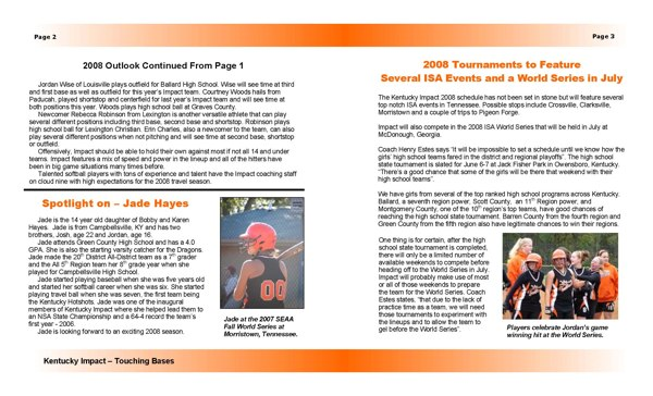 Newsletter Template 1 - Pages 2 and 3